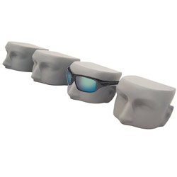 Matte Gray Chopped Heads Sunglass Display - Set of 4