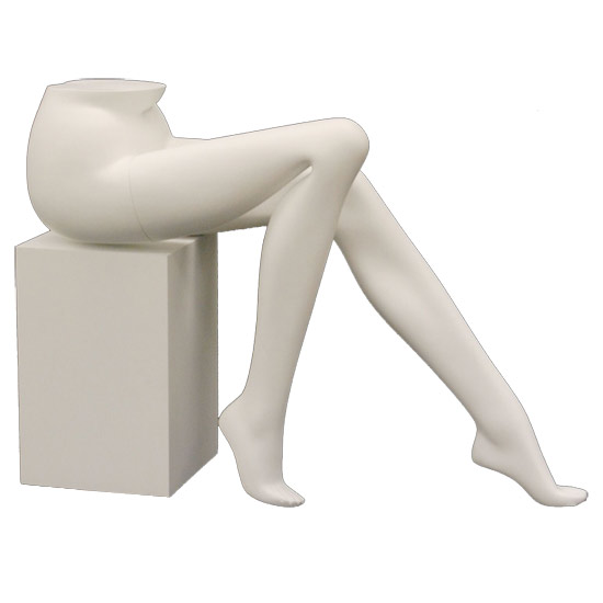 Female Mannequin Legs Sitting on Pedestal