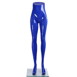 Ladies Standing Mannequin Legs Display - Gloss Blue