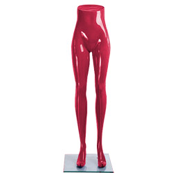 Ladies Standing Mannequin Legs Display - Gloss Red