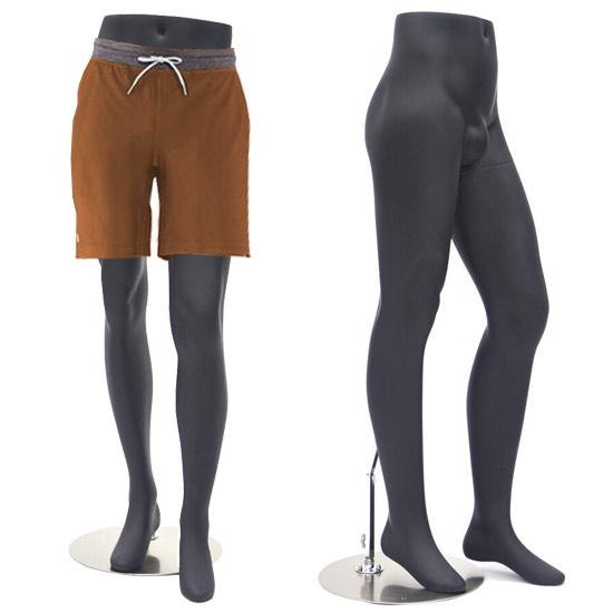 Male Mannequin Legs Display - Matte Black