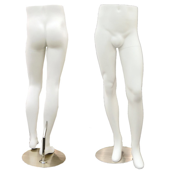 Male Mannequin Legs Display - Gloss White