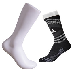 Mens Athletic Sock Display - White
