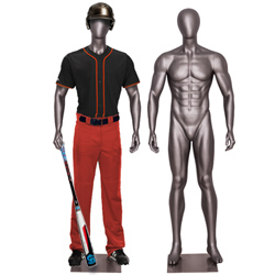 Athletic Male Baseball Player Standing Tall