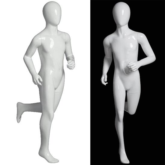 Child Mannequin - Gloss White Running Girl