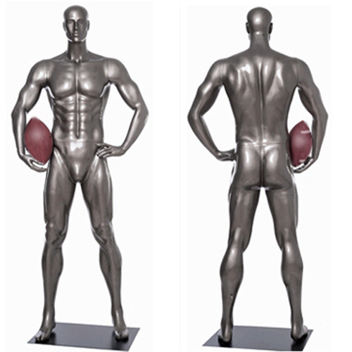 Football Player Mannequin Standing Tall with Hand on Hip