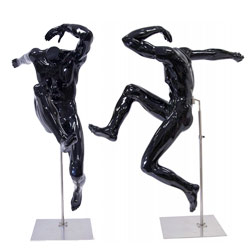 Unique Sport Mannequin - Athletic Male Leaper - Black