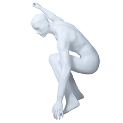 Male Mannequin - Surfboard Snowboard or Skateboard Pose