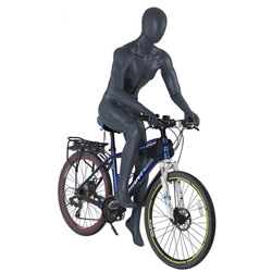 Mannequin in a Bike Riding Pose