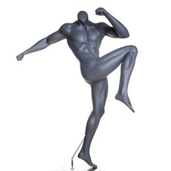 MMA Boxing Fighter Mannequin with Knee Kick