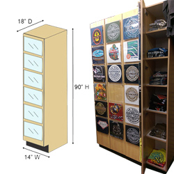 T-Shirt Door Display Cabinet