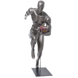 Football Player Mannequin Running With Football