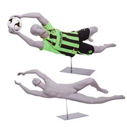 Soccer Goalie Mannequin Diving for Ball