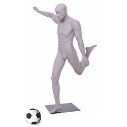 Soccer Mannequin Kicking the Ball