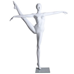 Standing Ballet Dance Pose Mannequin with Leg Up