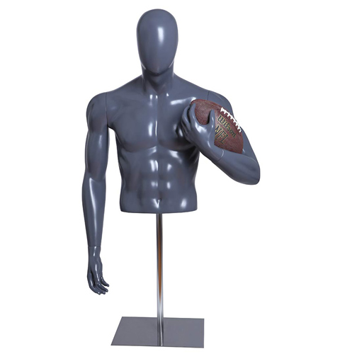 Football Player Form Holding A Football with Base