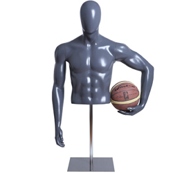 Male Player Form Holding Basketball with Base