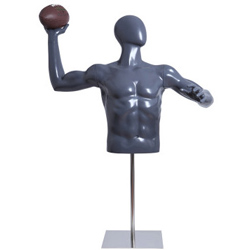 Football Player Form Throwing Football with Base